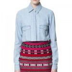 Ethic Skirt with bleached Chambray Shirt