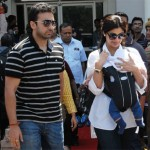 Shilpa Shetty with her family at Jodhpur International Airport