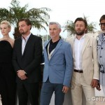 Cannes Film Festival 2013: Amitabh Bachchan, Leonardo DiCaprio and Tobey Maguire pose for the cameras before The Great Gatsby premiere