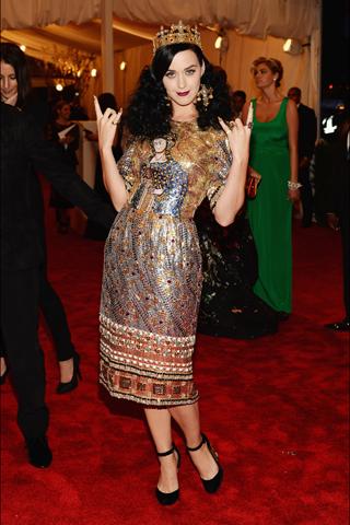 Katy Perry, in Dolce & Gabbana, with David Yurman jewels