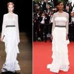 Liya Kebede In Alberta Ferretti Jeune Jolie Cannes Film Festival Premiere