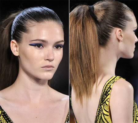 Pull back your hair in High Ponytail or Top Knot Bun