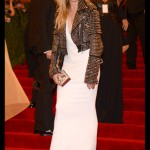 Sienna Miller in Burberry Prorsum, with jewels by Eddie Borgo and Genevieve Jones