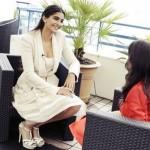 Sonam Kapoor in Ellie Saab at Media Call on day 3