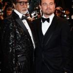 Amitabh Bachchan with leanardo Dicaprio at Great Gatsby Screening