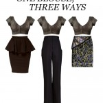 ONE BLOUSE- 3 WAYS TO WEAR